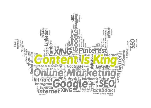 Digital marketing field - content marketing